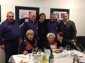 de izq a derecha: Eugenio, José (Pino), Walter, Gervasio, Carlos, Zulema, Ilda y Lujan.